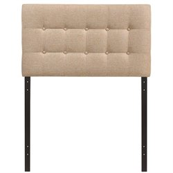 Modway Emily Upholstered Twin Panel Headboard in Beige