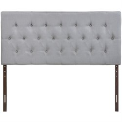 Modway Clique Tufted Headboard in Sky Gray