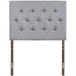 Modway Clique Twin Tufted Panel Headboard in Sky Gray