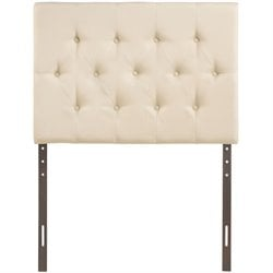 Modway Clique Twin Tufted Panel Headboard in Ivory