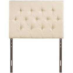 Modway Clique Tufted Headboard in Ivory