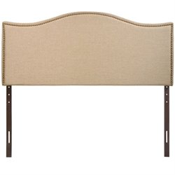 Modway Curl Upholstered Queen Panel Headboard in Cafe