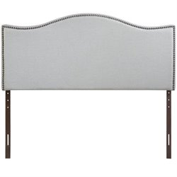 Modway Curl Upholstered Queen Panel Headboard in Sky Gray