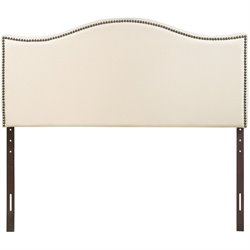 Modway Curl Upholstered Queen Panel Headboard in Ivory