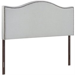 Modway Curl Upholstered Full Panel Headboard in Sky Gray
