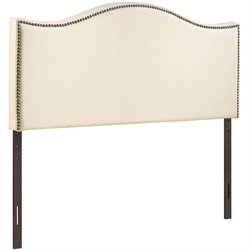 Modway Curl Upholstered Full Panel Headboard in Ivory