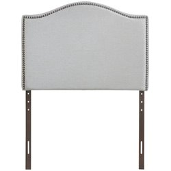 Modway Curl Upholstered Twin Panel Headboard in Sky Gray
