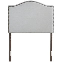 Modway Curl Upholstered Headboard in Sky Gray