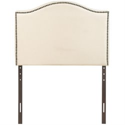 Modway Curl Upholstered Twin Panel Headboard in Ivory