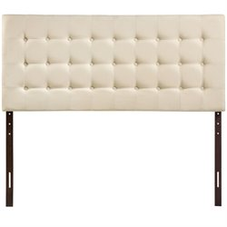 Modway Tinble Queen Tufted Panel Headboard in Ivory