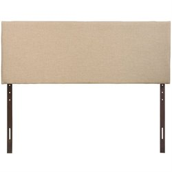 Modway Region Upholstered Queen Panel Headboard in Cafe