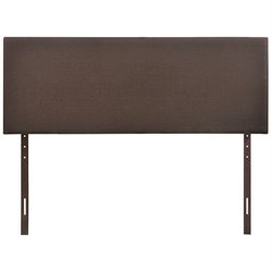 Modway Region Upholstered Queen Panel Headboard in Dark Brown