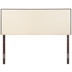 Modway Region Upholstered Queen Panel Headboard in Ivory