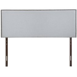 Modway Region Upholstered Full Panel Headboard in Sky Gray