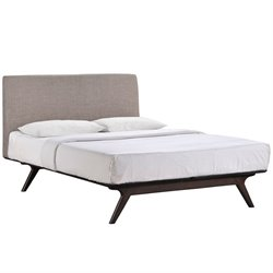 Modway Tracy Panel Bed in Gray