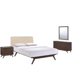 Modway Tracy 4 Piece Queen Bedroom Set