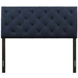 Modway Theodore Twin Tufted Panel Headboard in Navy