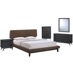 Modway Bethany 5 Piece Panel Bedroom Set