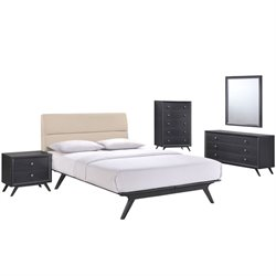 Modway Addison 5 Piece Queen Bedroom Set 1