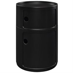 Modway Orbit Storage End Table in Black