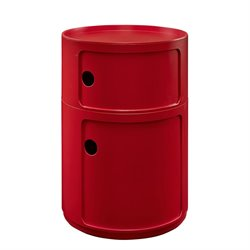 Modway Orbit Storage End Table in Red