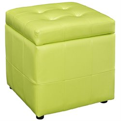 Modway Volt Square Faux Leather Storage Ottoman