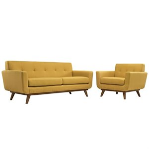 Modway Engage Sofa Set in Citrus 1