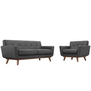 Modway Engage Sofa Set in Gray 1