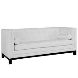 Modway Imperial Leather Tufted Sofa in White