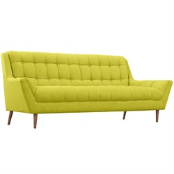 Modway Response Fabric Sofa in Wheatgrass