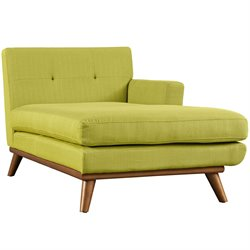 Modway Engage Right Arm Chaise Lounge in Wheatgrass