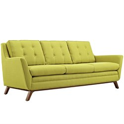 Modway Beguile Fabric Sofa in Wheatgrass