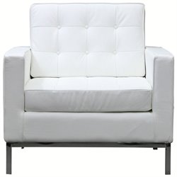 Modway Loft Leather Tufted Accent Chair