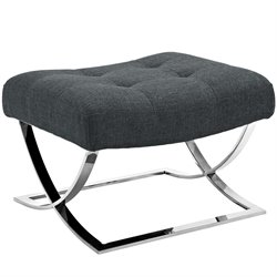 Modway Slope Fabric Ottoman in Gray