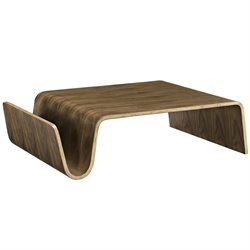 Modway Polaris Coffee Table in Walnut