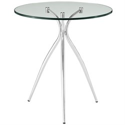 Modway Moxy Round Glass Top End Table
