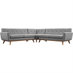 Modway Engage Corner Sectional in Expectation Gray