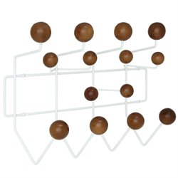 Modway Gumball Wall Mount Coat Rack in Walnut