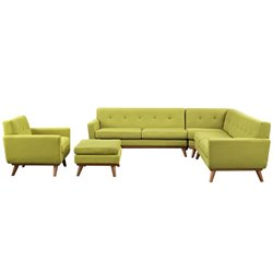 Modway Engage 5 Piece Sectional Set