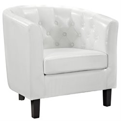 Modway Prospect Faux Leather Tufted Accent Chair