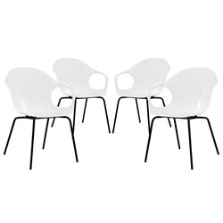 Modway Swerve Dining Side Chair in White