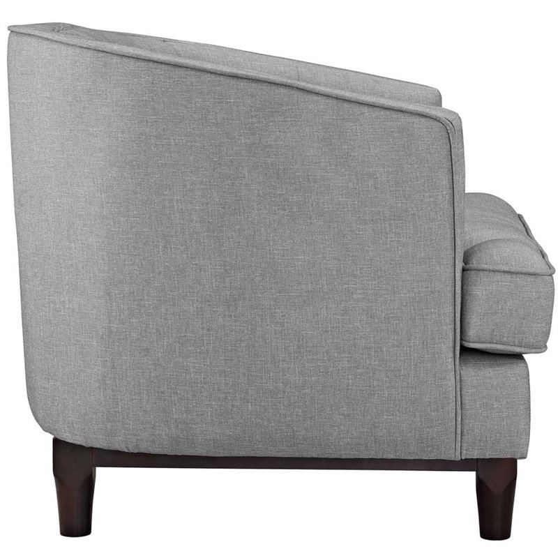 Amazing Modway Coast Fabric Accent Arm Chair In Light Gray Set Of 2 Bralicious Painted Fabric Chair Ideas Braliciousco