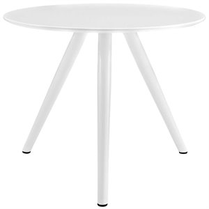Modway Lippa Wood Top Dining Table with Tripod Base in White