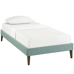 Modway Sharon Fabric Upholstered Platform Bed in Laguna with Square Tapered Legs