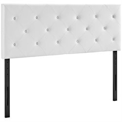 Modway Terisa Faux Leather Upholstered Headboard in White