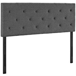 Modway Terisa Fabric Upholstered Headboard in Gray