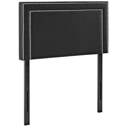 Modway Jessamine Faux Leather Upholstered Headboard in Black