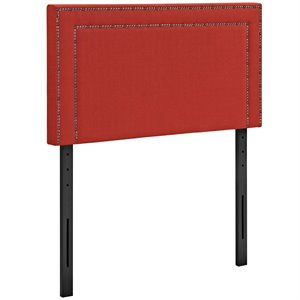 Modway Jessamine Fabric Upholstered Twin Headboard in Atomic Red