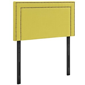 Modway Jessamine Fabric Upholstered Twin Headboard in Sunny