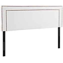 Modway Jessamine Faux Leather Upholstered Headboard in White